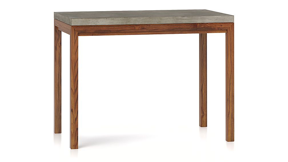 Parsons Concrete Top/ Elm Base 48x28 High Dining Table