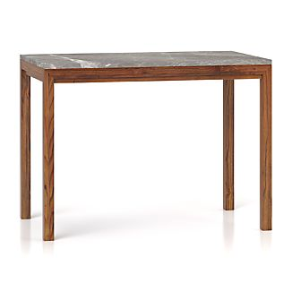 Parsons Grey Marble Top/ Elm Base 48x28 High Dining Table