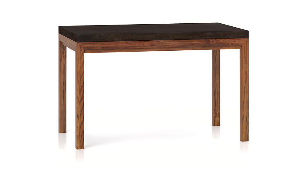 Parsons myrtle top elm base 48x28 high dining table crate and barrel - Crate and barrel parsons chair ...