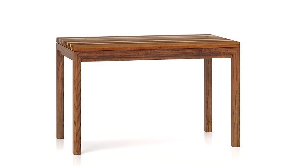 Enlarge product image size  Reduce product image size. Parsons Reclaimed Wood Top  Elm Base Dining Tables   Crate and Barrel