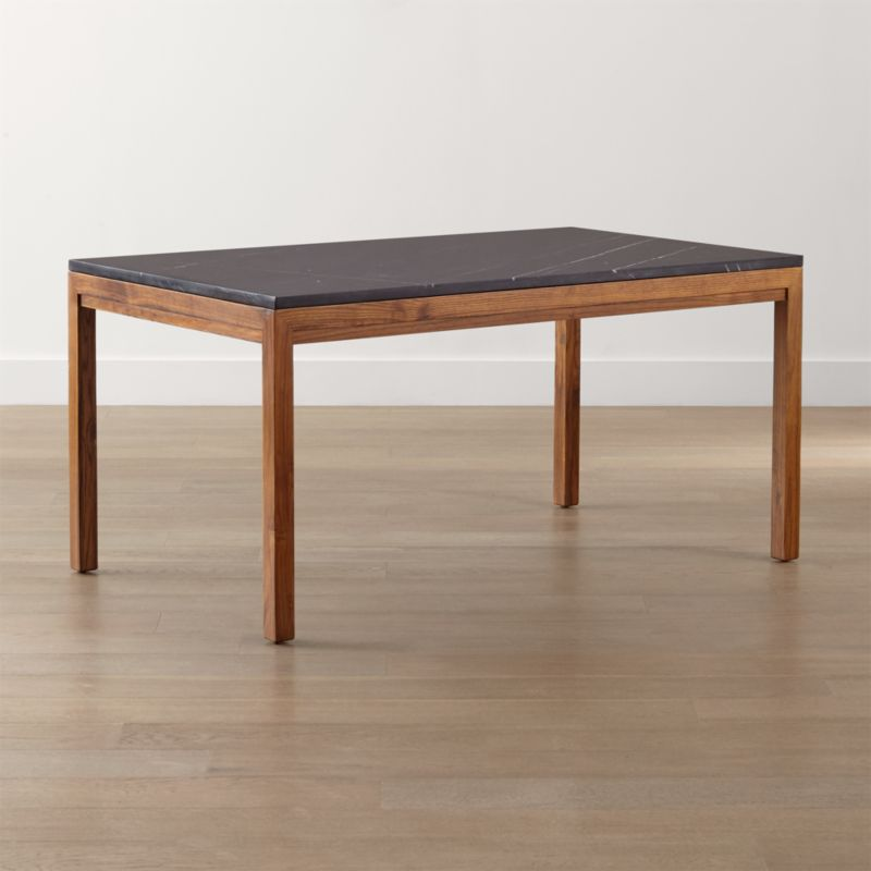 Parsons Black Marble Top/ Elm Base Dining Tables