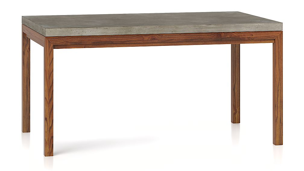 Parsons Concrete Top/ Elm Base 60x36 Dining Table