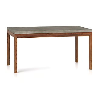 Concrete Top/ Elm Base 60x36 Dining Table