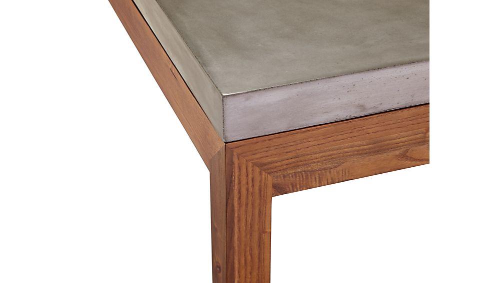 Parsons Concrete Top/ Elm Base 48x28 High Dining Table