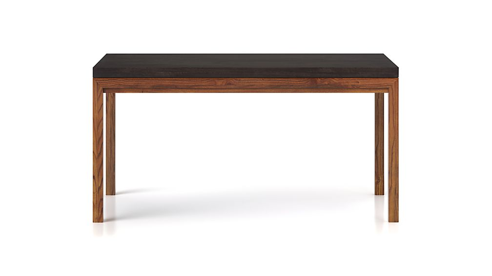 Parsons Pine Top/ Elm Base 48x28 High Dining Table