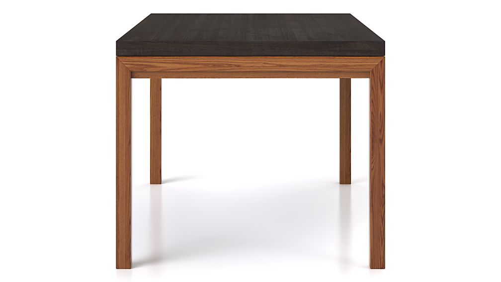 Parsons Pine Top/ Elm Base 72x42 Dining Table