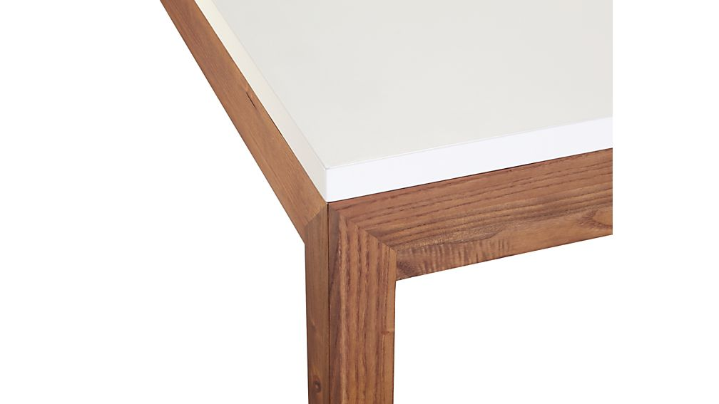 Parsons White Top/ Elm Base 72x42 Dining Table