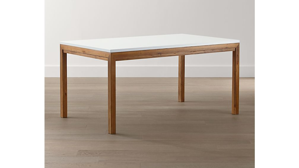 White Top/ Elm Base 48x28 High Dining Table