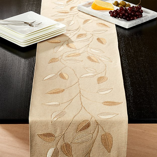 Elodie felt 120 table runner crate and barrel for 120 table runners