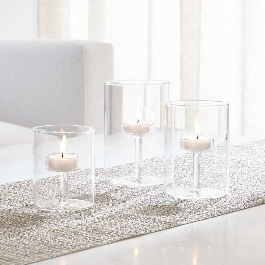 Elsa Small Glass Tea Light Candle Holder Reviews Crate And Barrel