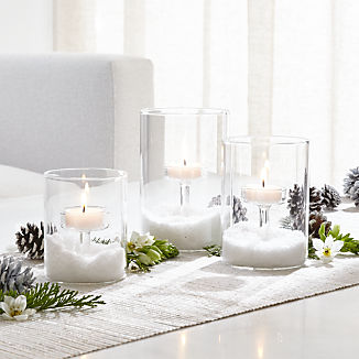 Elsa Glass Tea Light Candle Holders