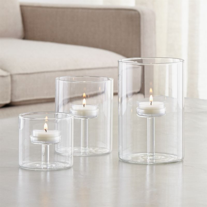 Elsa Glass Tealight Holders Crate And Barrel