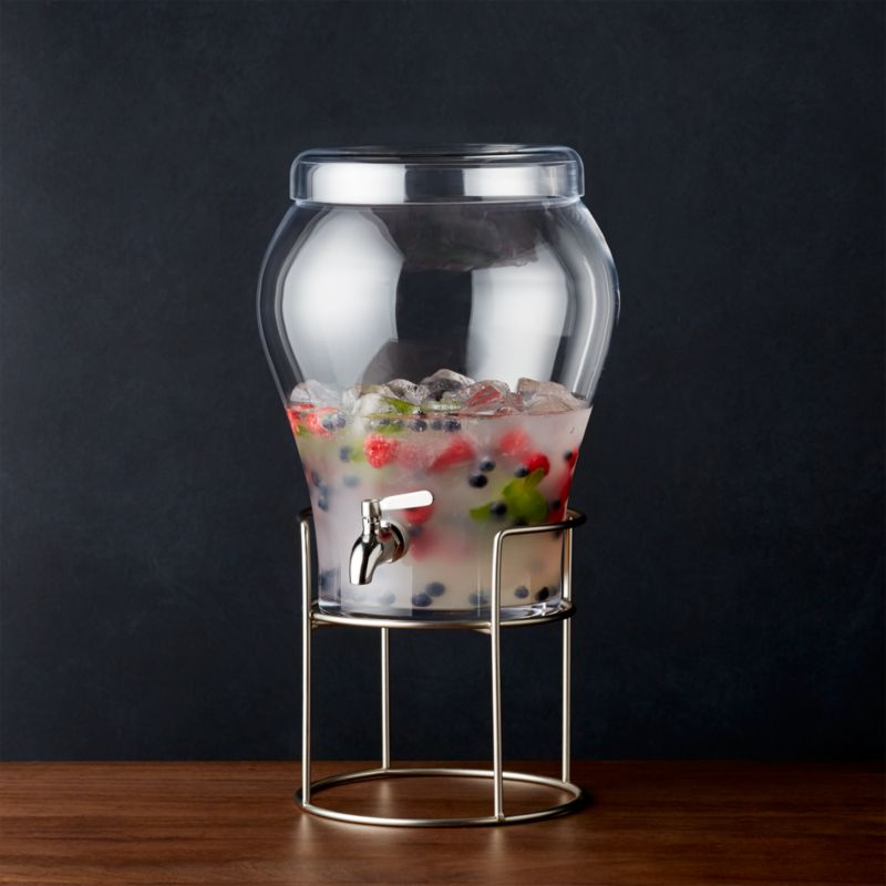 Elsey 3 Gallon Drink Dispenser With Silver Stand Crate