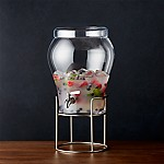 Elsey 3 Gallon Drink Dispenser with Silver Stand