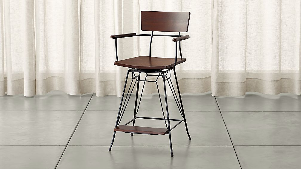 Elston Swivel Counter Stool Reviews Crate And Barrel