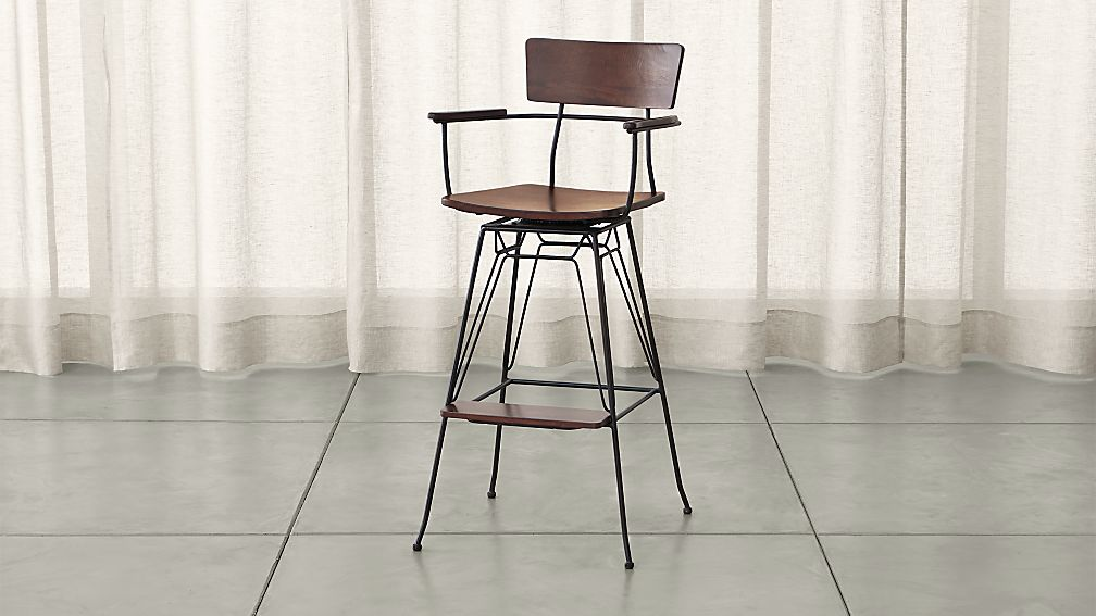 Elston Swivel Bar Stool - Image 1 of 8