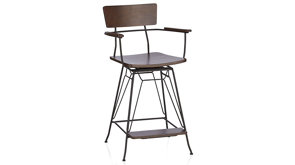 ... Elston Swivel Bar Stool ...  sc 1 st  Crate and Barrel & Elston Swivel Bar Stool | Crate and Barrel islam-shia.org