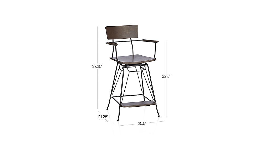 Elston Swivel Counter Stool Crate And Barrel