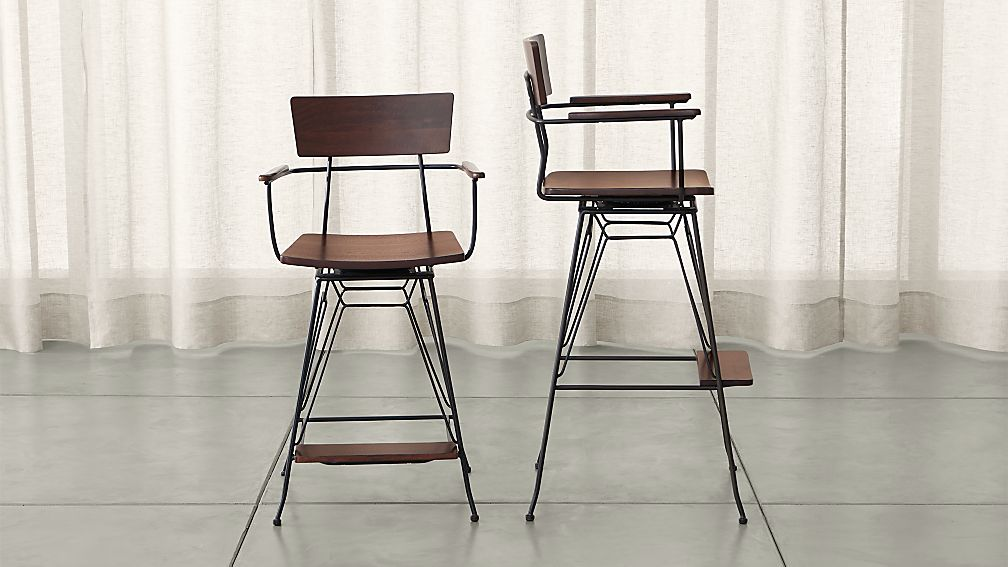 Awesome Bar Stools For A Bar Part - 13: Crate And Barrel