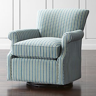 Elyse 360 Swivel Chair Chairs  Rocking and Accent Crate Barrel