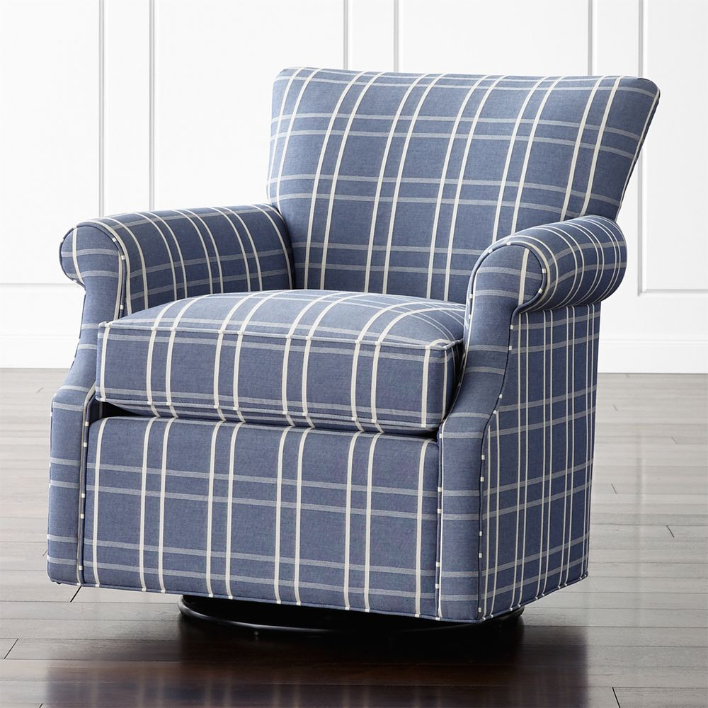 Elyse 360 Swivel Chair - Crate and Barrel