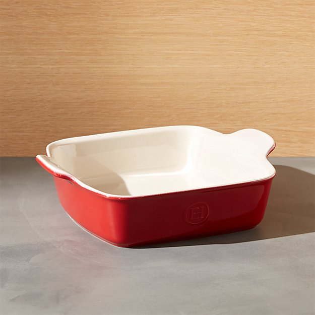 Emile Henry Modern Classic Rouge Red Square Baking Dish