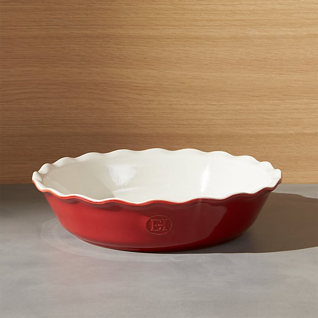 emile henry modern classic rouge red pie dish crate and barrel. Black Bedroom Furniture Sets. Home Design Ideas