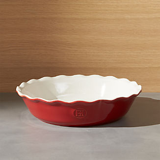 Emile Henry Modern Classic Rouge Red Pie Dish