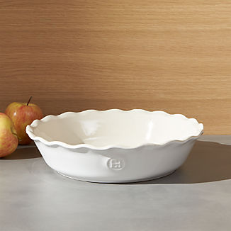 Emile Henry Modern Classic Sugar White Pie Dish