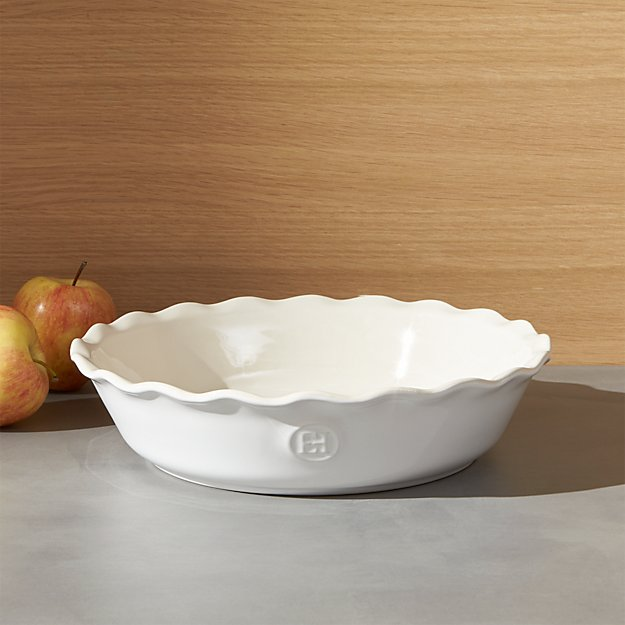 Emile Henry Modern Classic Sugar White Pie Dish - Image 1 of 4