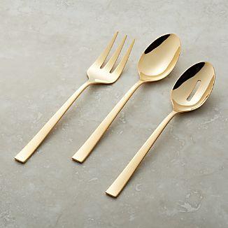 Emory Gold 3-Piece Serving Set