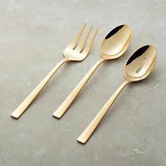 Ellenore Gold 3-Piece Serving Set