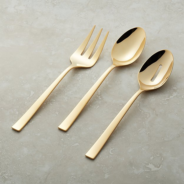 Ellenore Gold 3-Piece Serving Set - Image 1 of 5