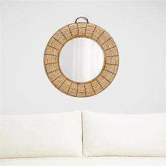 Emory Round Woven Mirror