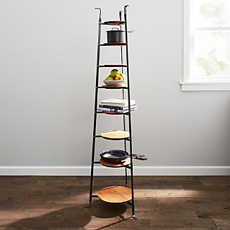Enclume ® Standing 8-Tier Pot Rack with Wood Trivets