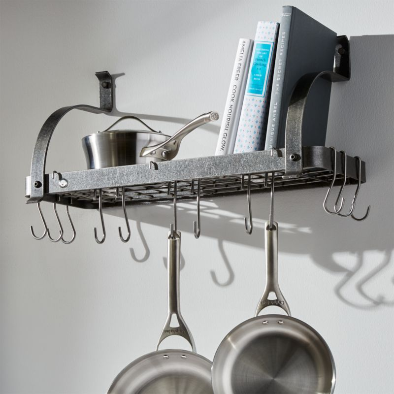 Enclume Bookshelf Pot Rack Reviews Crate And Barrel