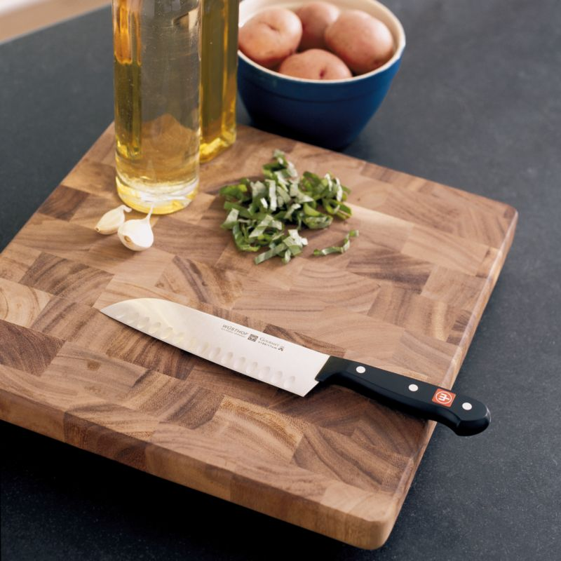 Square End-Grain Cutting Board | Crate & Barrel