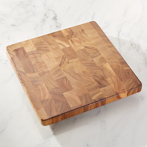 Square End Grain Cutting Board Crate And Barrel