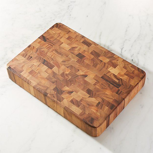 Large End Grain Cutting Board Block Reviews Crate And Barrel - Restaurant prep table cutting boards