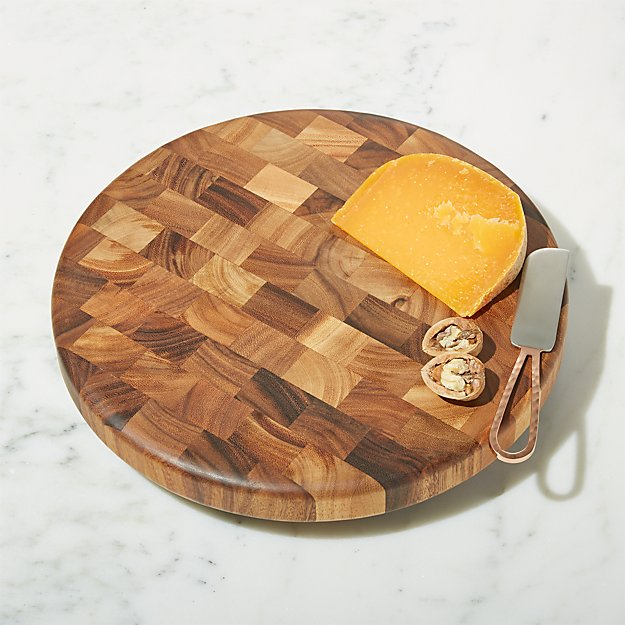 Round End-Grain Cutting Board - Image 1 of 4