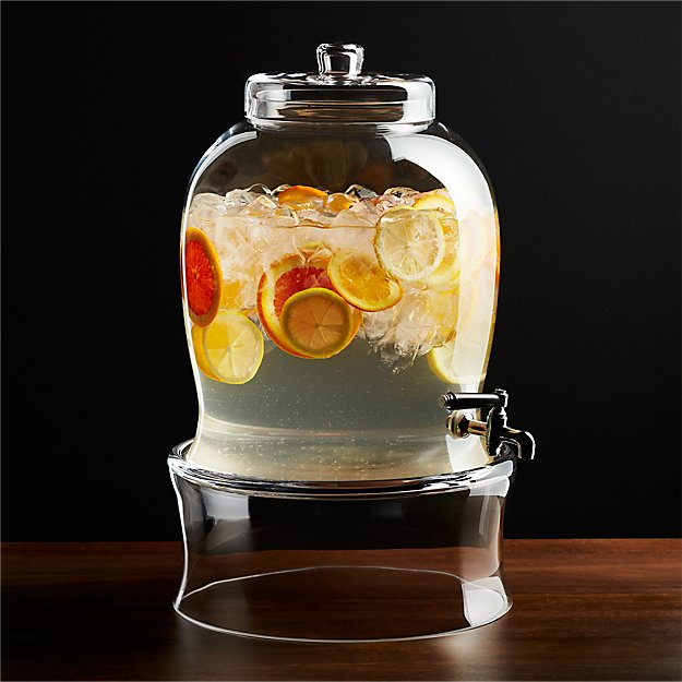 Entertaining Beverage Dispenser With Spigot Crate And Barrel