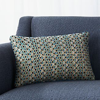 "Enzo 18""x12"" Pillow with Feather-Down Insert"