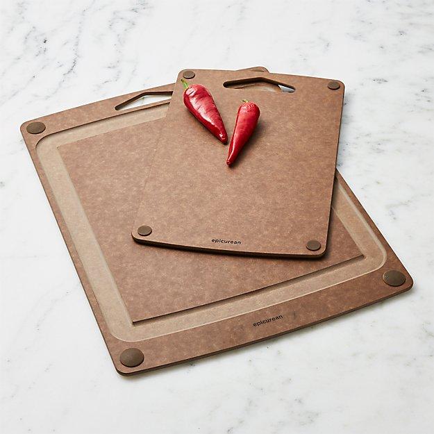 Epicurean ® Carver and Everyday Nutmeg Board Set