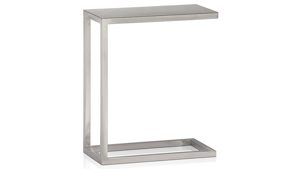 Greatest Era Stainless Steel C Table + Reviews | Crate and Barrel XF03