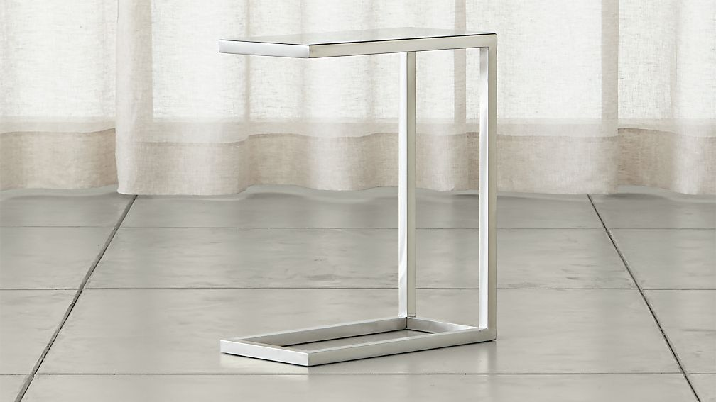Era Stainless Steel C Table - Image 1 of 12