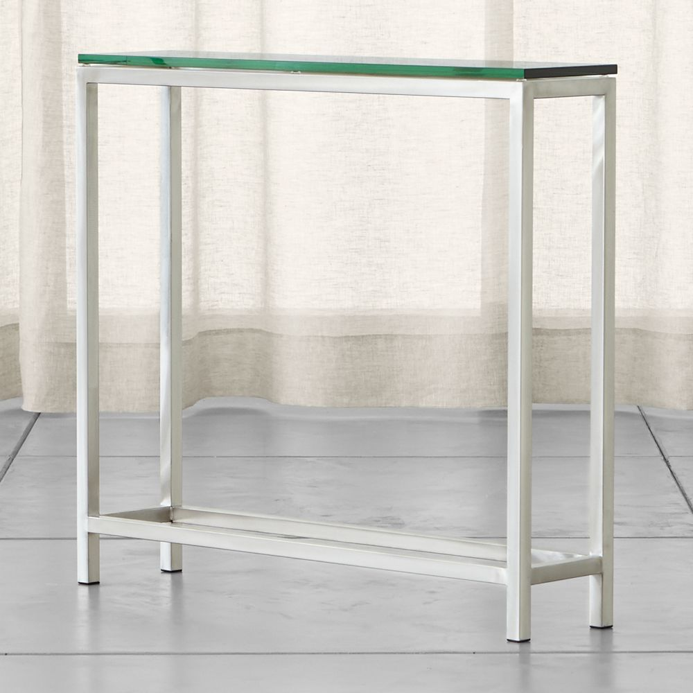 Era Glass Console Table - Crate and Barrel
