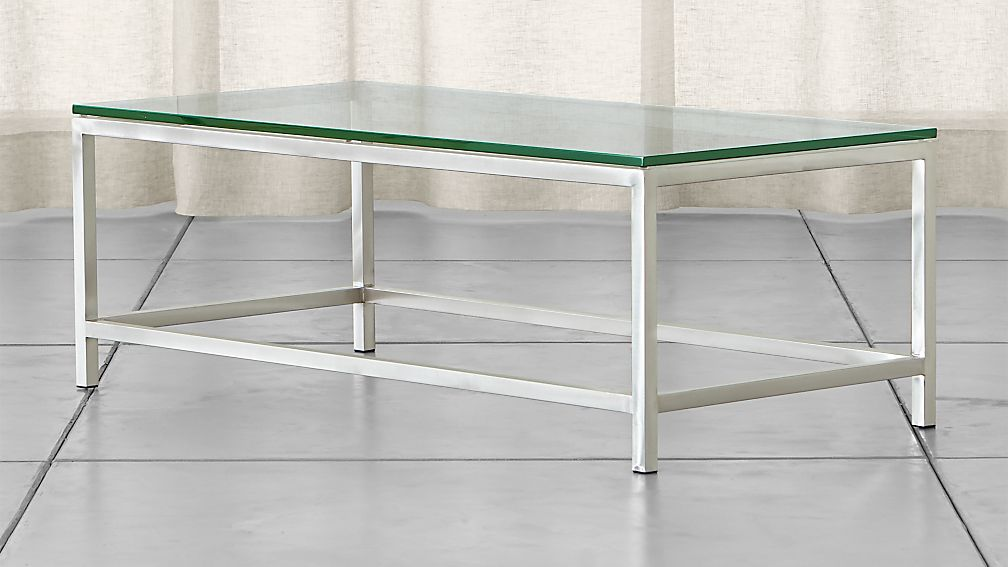 Era Rectangular Glass Coffee Table ... - Era Rectangular Glass Coffee Table Crate And Barrel