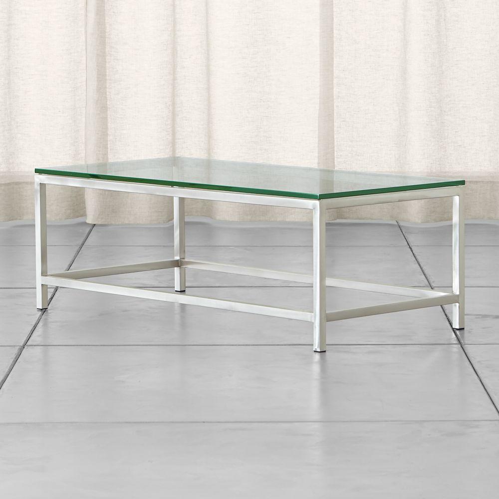 Era Rectangular Glass Coffee Table - Crate and Barrel