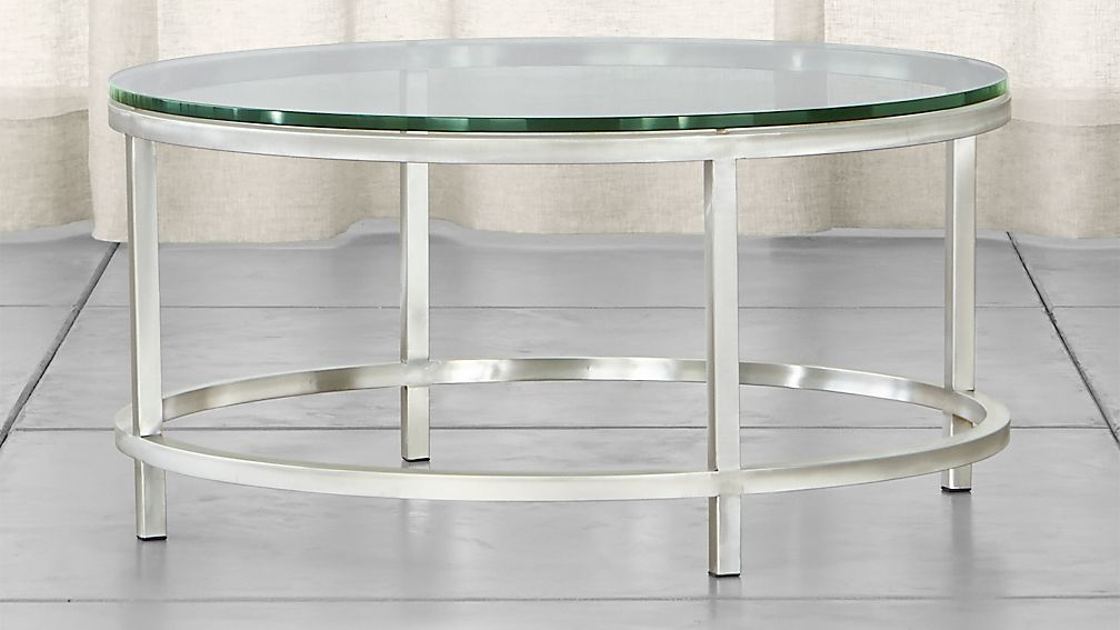 round glass coffee table Era Round Glass Coffee Table + Reviews | Crate and Barrel round glass coffee table