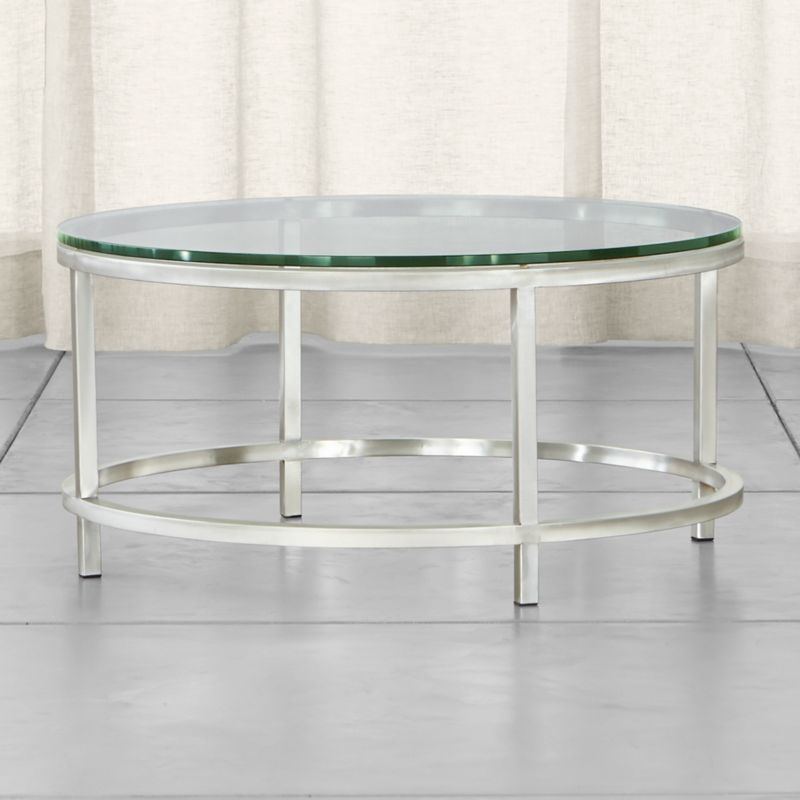 """If ever there were a go-to accent table, this perpetually modern, stainless-steel design would be it. While Era's architectural lines are clean and simple, its tubular steel frame is hand-buffed to a gleaming finish by skilled craftsmen. <NEWTAG/><ul><li>Squared tubular stainless</li><li>⅝""""-thick glass top with polished edges</li><li>Made in China</li></ul><br />"""